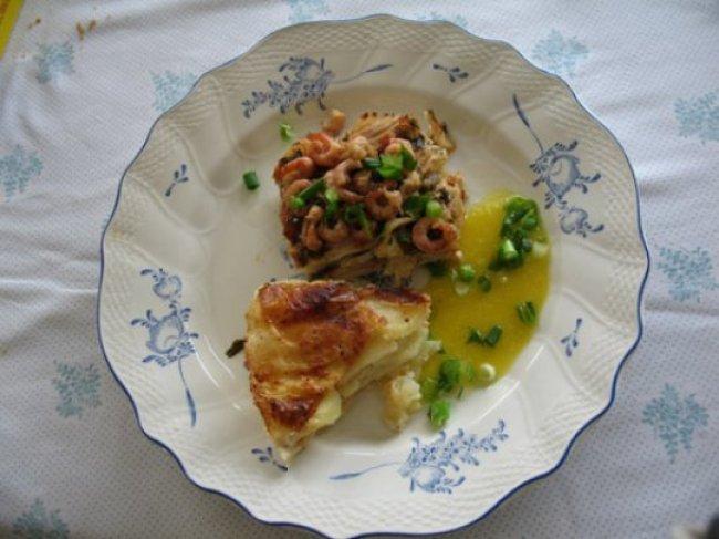 Lasagne van rog met Hollandse saus en kaasaardappelen 1
