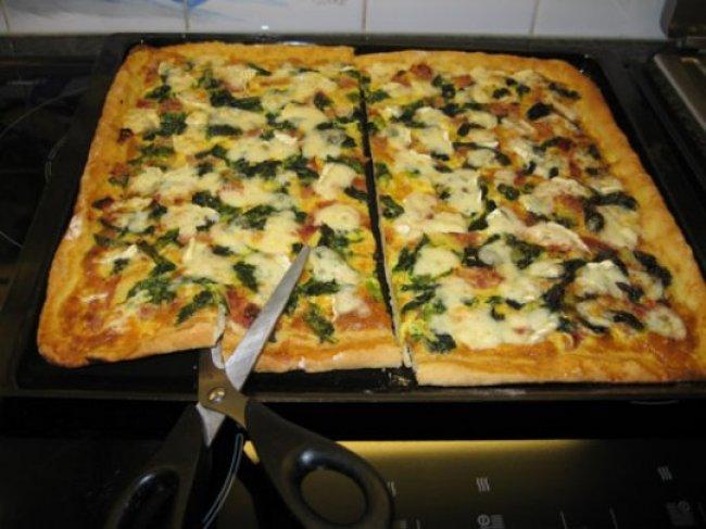 Pizza met andijvie 1