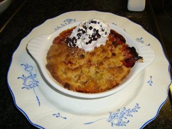 Aardbei en rabarber crumble met ijs 5