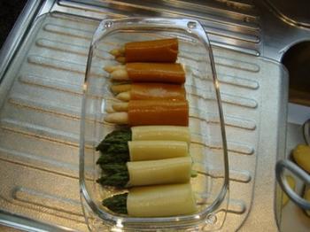 Cappuccino van asperges met cannelloni en scampi 2