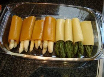 Cappuccino van asperges met cannelloni en scampi 3