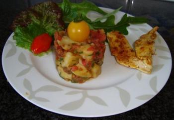 Frisse aardappelsla met kipfilets 5
