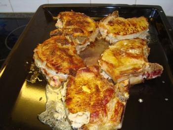 Kotelet gevuld met camembertkaas 5
