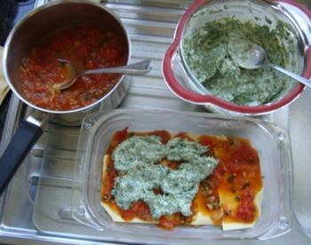 Lasagne met ricotta en spinazie 2