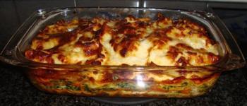 Lasagne met ricotta en spinazie 4