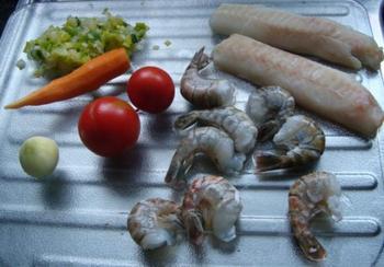 Papillot van kabeljauwhaasje, zalmfilet en groentebrunoise 2