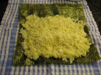 Risotto met kalkoenstoofvlees en sushi nori 2