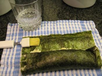 Risotto met kalkoenstoofvlees en sushi nori 3