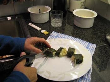 Risotto met kalkoenstoofvlees en sushi nori 5