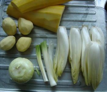 Witloofsoep met appel en kipfilet 2