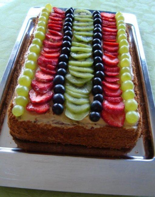 Biscuit met speculaas, mascarponecrème en vers fruit 1