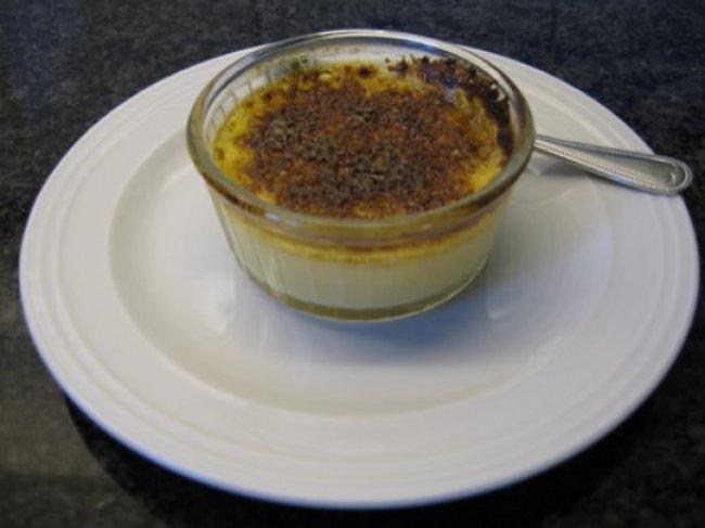 Crème brûlée met witte chocolade en advocaat 1