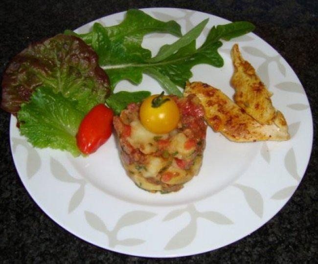 Frisse aardappelsla met kipfilets 1