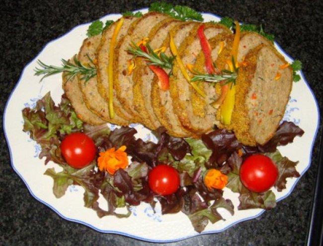 Gehakt brood met groentevulling 1