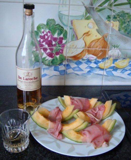 Meloen met ham en pineau des charentes 1