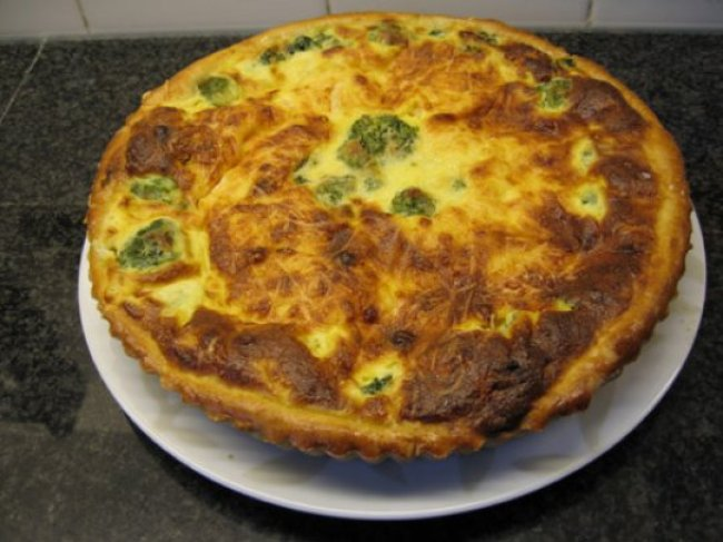Quiche met broccoli en vis 1