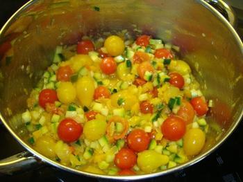 Deegwaren met tijgergarnalen, chorizo en mediterrane groenten 3