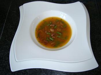 Soep met Borlotti bonen en fijne prinsesboontjes 2