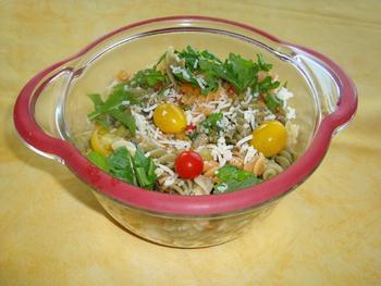 Vegetarische spirelli of fusilli tricolore 2