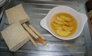 Verloren brood, pain perdu of wentelteefjes met appel 4