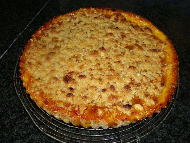 Abrikozentaart met crumble 1