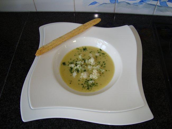 Bloemkool - aardappelsoep 1