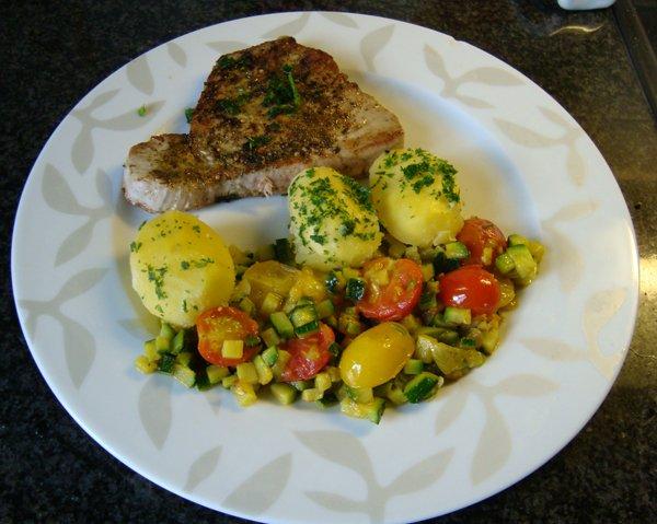 Gebakken tonijn met zuiderse groentjes 1
