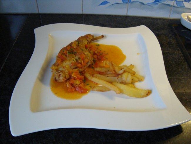 Konijn met groenten en sinaasappelsap 1