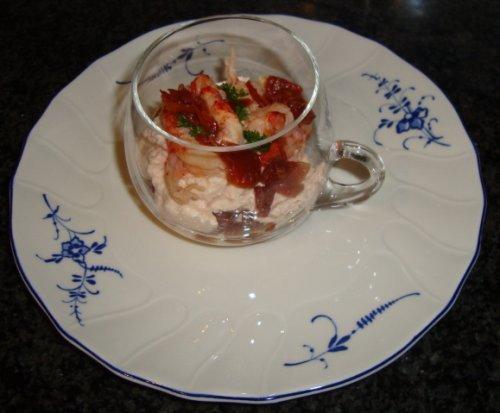Mousse van rivierkreeftstaartjes 1