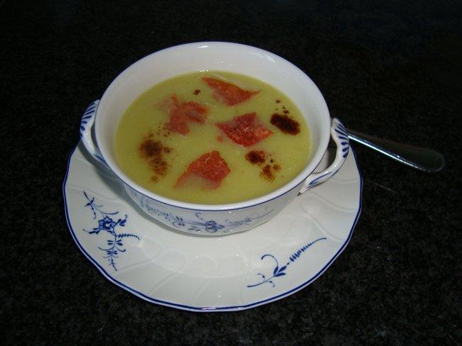 Pastinaaksoep met krokante pata negro ham 1
