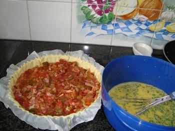 Quiche met spek en tomaten 7