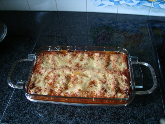 Cannelloni met gehakt en tomatensaus 1