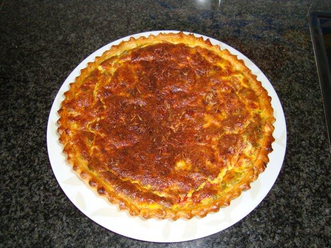Quiche met spek en tomaten 1