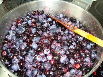 Blauwe bessenconfituur met minder suiker 3