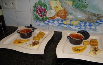 Fazantenragout met zalfjes van pastinaak en pompoen 9