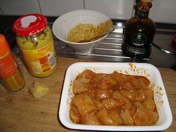 Gemarineerd spiesje van kip en ananas 3