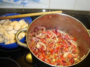 Kalkoen met rode currypasta 5