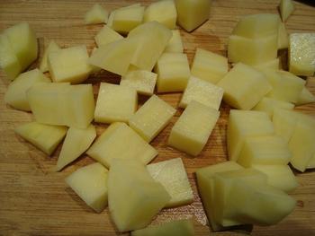Oven gebakken aardappelblokjes 3