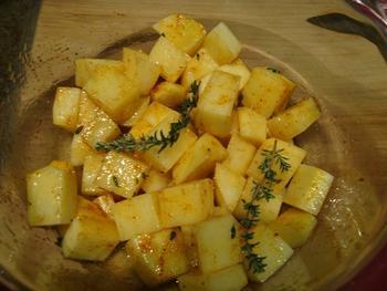 Oven gebakken aardappelblokjes 4
