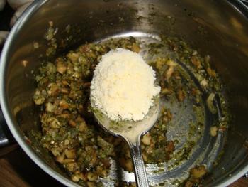Ovenschotel: gevulde champignons met pesto 4