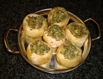 Ovenschotel: gevulde champignons met pesto 6