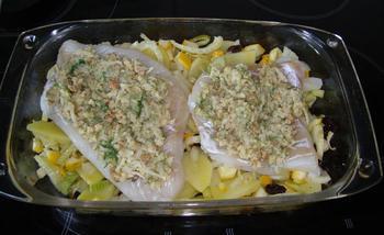 Ovenschotel van kabeljauwhaasje met crumble, venkel en aardappelen 7