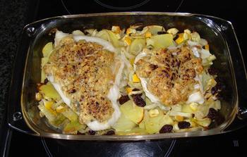 Ovenschotel van kabeljauwhaasje met crumble, venkel en aardappelen 8