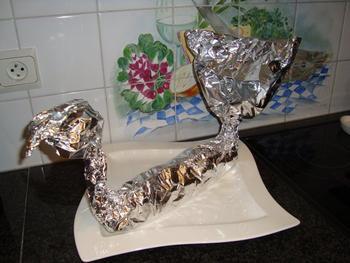 Pasta marinara in zwanenpapillot 10