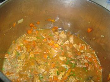 Potje van varkensstoofvlees en wortelen 7