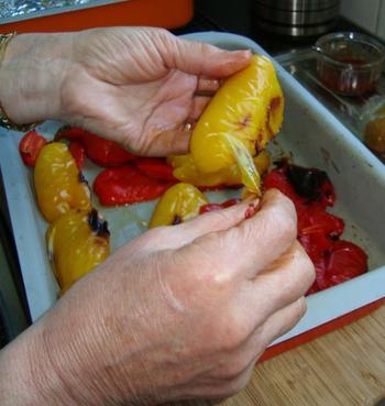 Paprika roosteren 5