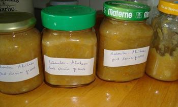 Rabarber abrikozenconfituur zonder suiker, gezoet met steviapoeder 4