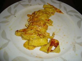 Risotto met omelet en garnalen 3