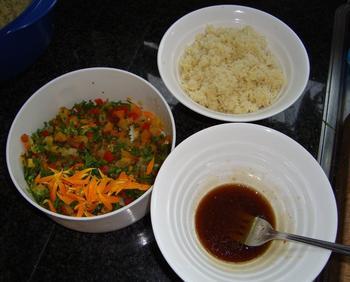 Scampi met couscous en zuiderse groentjes 3