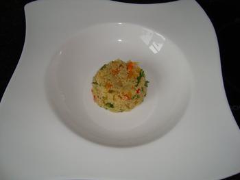 Scampi met couscous en zuiderse groentjes 6